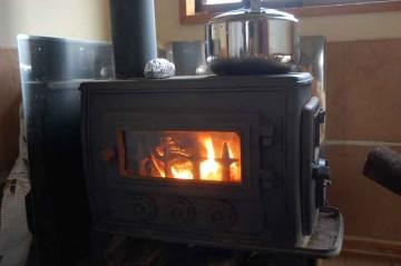 薪ストーブ 火をつけてみた