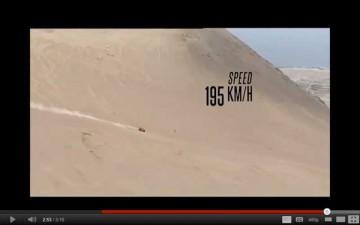 昨日のルート概要で、崖下りと訳してしまったのはこれですね!正解は「激下り」でした! ロビーゴードン(ハマー)のスピードは195キロ!まさに激下り。