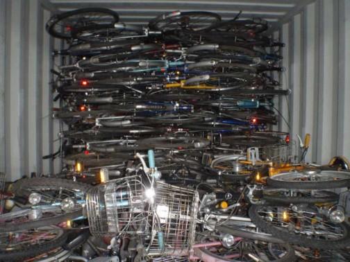 自転車いっぱい!