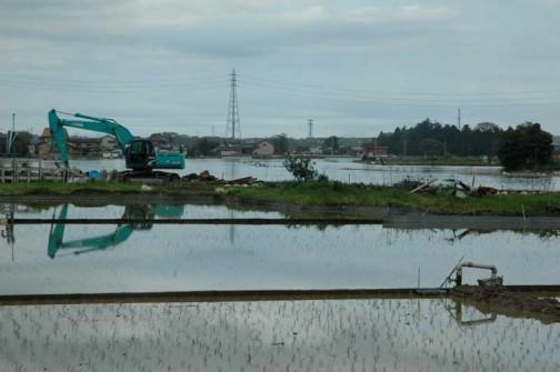 地震で壊れた堤防を直すのは間に合わなかったみたいです