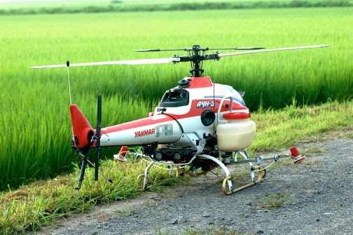 ヤンマー産業用無人ヘリコプター AYH-3 詳しいスペック、価格などは一番下の「産業用無人ヘリコプターの記事をまとめてご覧になるにはこちら」のバナークリックで出てくる記事を見てください