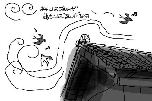 ツバメ、風に乗ってコロコロ遊んでいます。どんな風に風が吹いているか、流れが見えるようです。