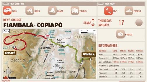 あっ!今日はアルゼンチンからチリに入り、落盤事故で有名になったコピアポへ 移動区間392キロ競技区間319キロです