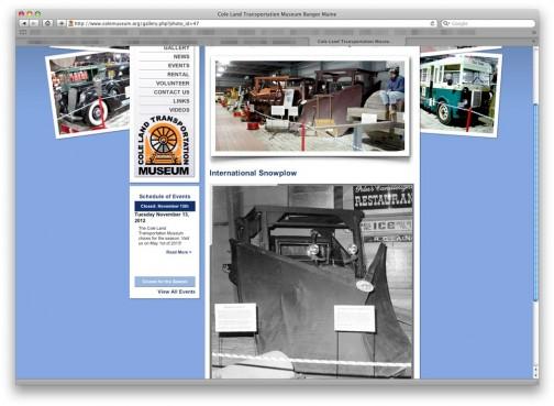 コールランド交通博物館にインターナショナルトラクターの「じょせつしゃ」があった