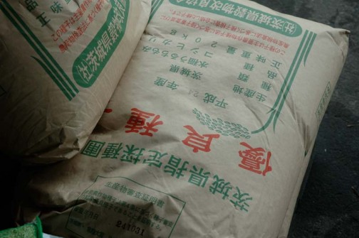 コシヒカリの種 この袋に小袋で入っているそうです。 見てないけど