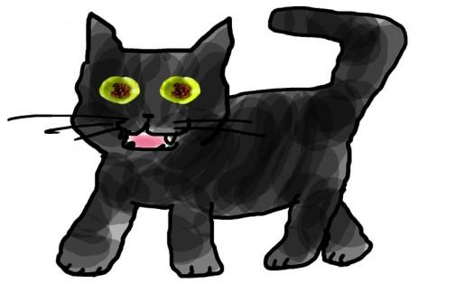 ヤマネコノメソウの実、ネコの目に見えます???