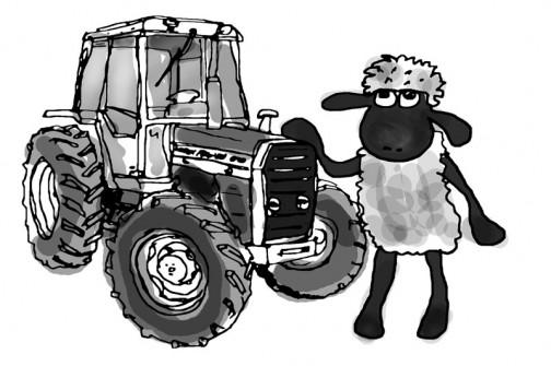 MF690・・・イメージはこれ。まあ、羊のショーンは力持ちじゃないですけどね。