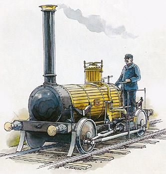 こんな機関車を作っていたんですって!