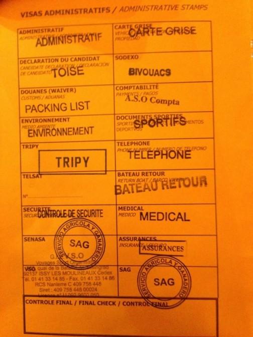 野口装美のブログから黙って引っぱってきてしまいました。ダカールラリーの人検のカードです。オレンジ色がクボタの注意書きと似てるでしょ?