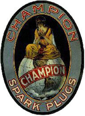 色々見当たります。チャンピオンイグニッション社のロゴ