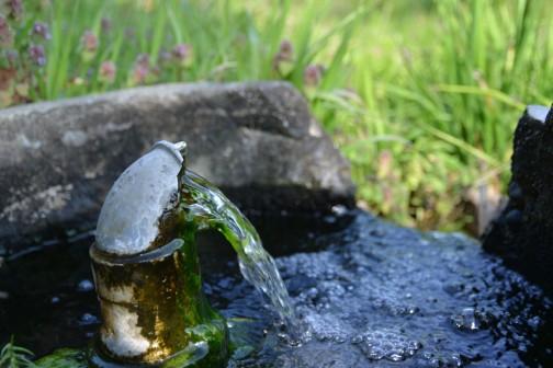 水戸市の災害時生活用水協力井戸 人知れず24時間湧いています。