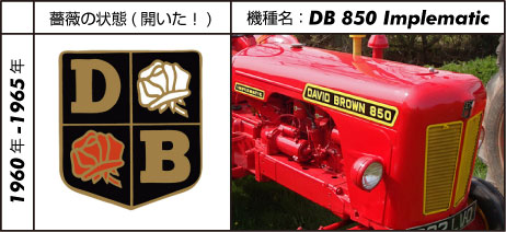 デビッド・ブラウントラクター850インプルマティック 1960 - 1965 David Brown 2.5L 4-cyl diesel 35 hp まだ白い車体は出てきていません。