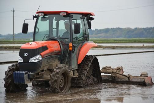 Kubota KL5150 Crawler Tractor+Niplo WRS3810N Wing harrow 荒代かきから仕上まで3回まわることもあるんだ・・・クボタKL5150+ニプロWRS3810ウイングハロー「シロウト向けトラクター代かき講座」