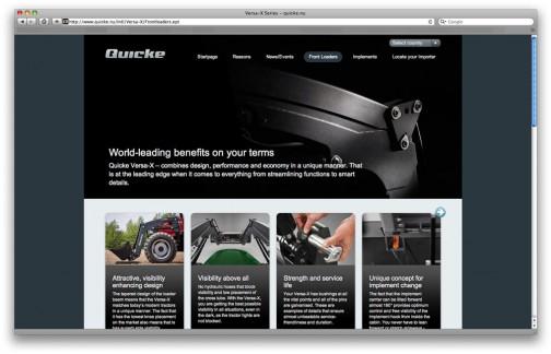 Quickeブランドのサイト。視認性向上デザインが特長みたいです。アプリはアンドロイド用しかありませんねえ・・・