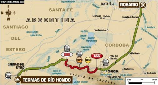 移動区間はなんと726キロ。スペシャルは298キロ。ラリーは去年のスタート地、ロサリオへ向かいます。