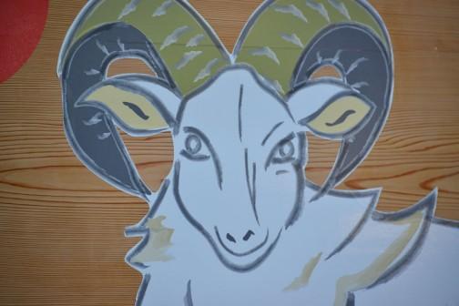 ところで羊ってこんな顔してるんだっけ??? かなり気高く猛々しい感じです。
