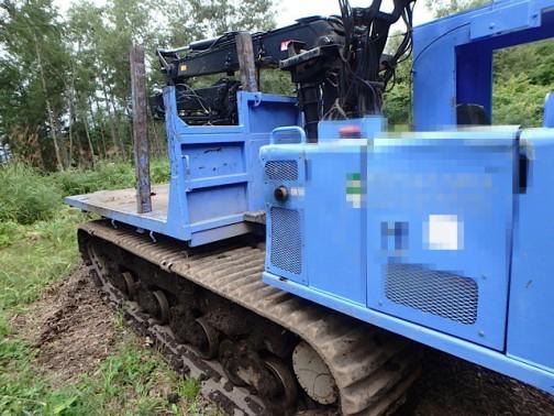 イワフジ工業株式会社の林業機械、フォワーダ
