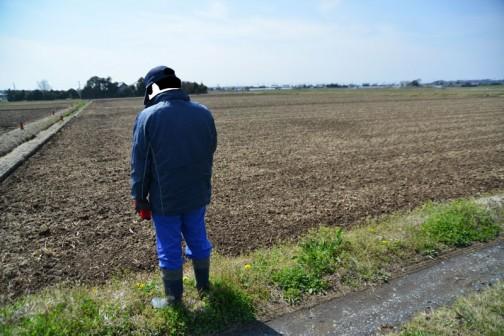 農用地の点検。