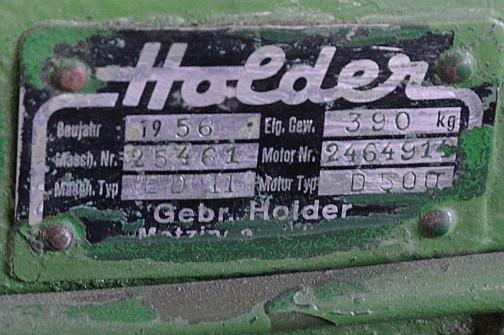 機種名: ホルダーハンドトラクタ 形式・仕様:   7馬力 製造社・国:ホルダー社 ドイツ 導入年度:1955年(昭和30)年