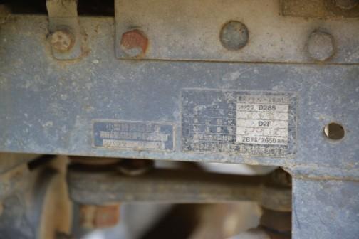 型式名:シバウラD288 車台型式:D2F 機関出力/回転数:28ps/2650rpm 運輸省型式認定番号 農1625号 シバウラ D2F型