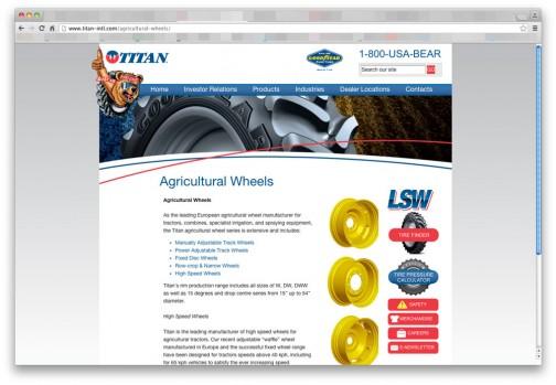 調べてみたらTitan International(http://www.titan-intl.com/agricultural-wheels/)というアメリカの農業ホイールの会社でした。タイヤなんかも作っているみたいです。