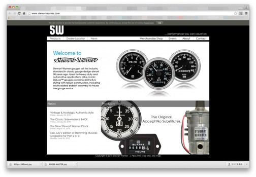 ただ、Maximateccのサイトを見ていたら、レトロなメーターの復刻版を売っているみたいで、そのブランドとしてSW(スチュワート・ワーナー)の名前が残っていました。