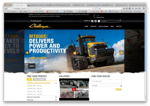 チャレンジャーだけのサイトもありました。http://www.challenger-ag.com/