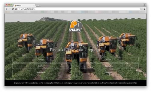 ネットで調べてみると、Pellencは1973年にできたフランスの会社で、主にブドウやオリーブ栽培用の様々な機械を作っているみたいです。特に印象に残ったのはこの機械・・・ブドウの収穫をする機械に見えますね。
