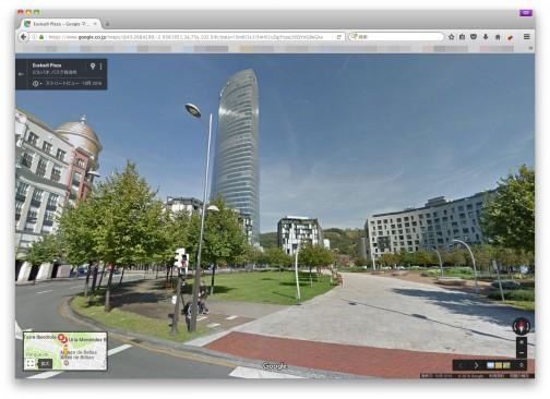 ストリートビューで写真が撮られたと思われる位置に行ってみます。町の公園地区?文教地区の真ん中ですね・・・鳥居は見当たらないなあ・・・