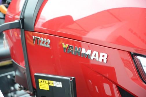 ヤンマートラクター YT2シリーズ YT222,UK○○(読めず) 水冷4サイクル3気筒直噴ディーゼル 1330cc 22馬力/2500rpm 価格¥2,419,○○○(読めず) WEBページの価格表だと最低価格がYT222,UKS5の価格¥2,446,200 (ホイル仕様、メカ変速、ロプス)なんですけど、合わないですねえ・・・