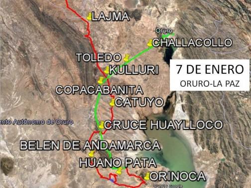 ネットを探すと詳しいルートのヒントが見つかります。緑はリエゾンでオルロに入るルートですね。赤は・・・赤はなんだろ・・・わからないや。