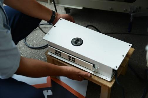 これがそのセンサー部分。コンバインに載っていたものと似ていますね。