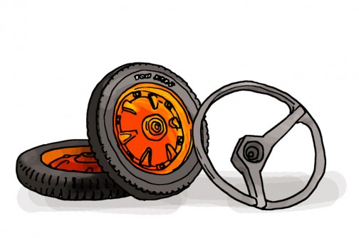 いつもコメントや資料を提供してくださる伊藤産機㈱さん(www.itosanki.com)からタイヤとハンドルを協賛いただきました!