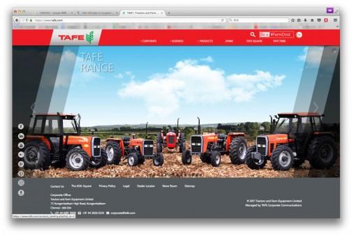 TAFEは調べてみるとインドの会社。Tractors and Farm Equipment Limitedの頭をとってTAFEみたいです。