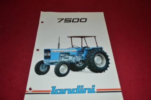これもネットで見つけたランディーニ7500のカタログ表紙写真。MFだと184にあたり、パーキンス3.9L4気筒ディーゼル70馬力だそうです。