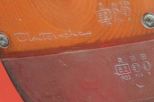 先ほどのMF240のウインカーを拡大すると・・・Cluterocheという銘がありました。これ、以前見たことがあります。