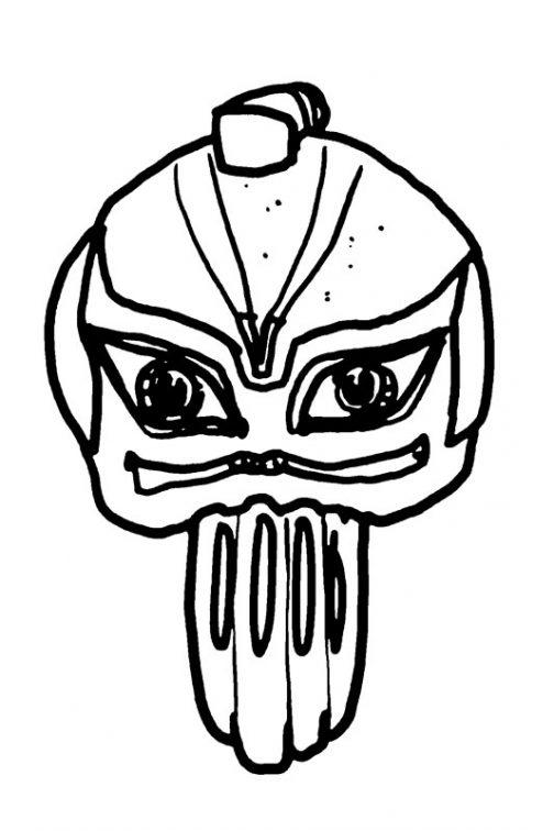チョンマゲのサムライモンスター