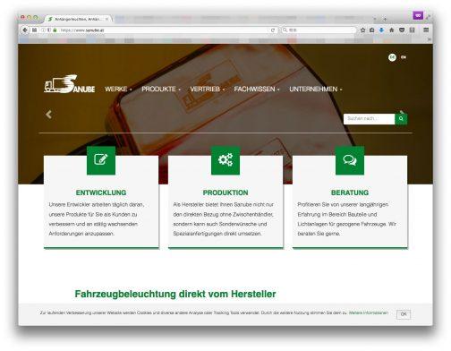 2006年にトレーラー部品の会社として創業のSANUBEという会社ですが、オーストリアなんだかドイツなんだかハンガリーなんだか、どこで生まれたのかはよくわかりません。