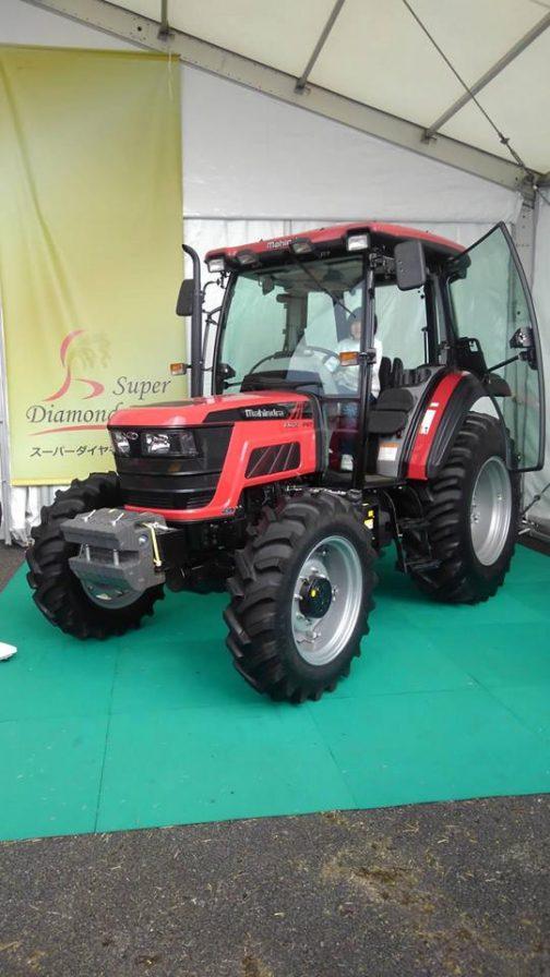 マヒンドラのM-Star75、これも第34回国際農業機械展in帯広に居ました。