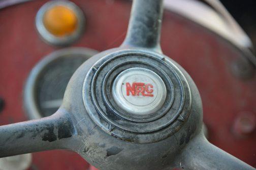 常滑焼の急須のようなハンドルボス。NRCというのが何なのか、調べたのですがわかりませんでした。