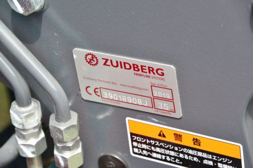 以前と同じZUIDBERGの製品です。Year of Prod.が2019年・・・できたてのほやほやです。