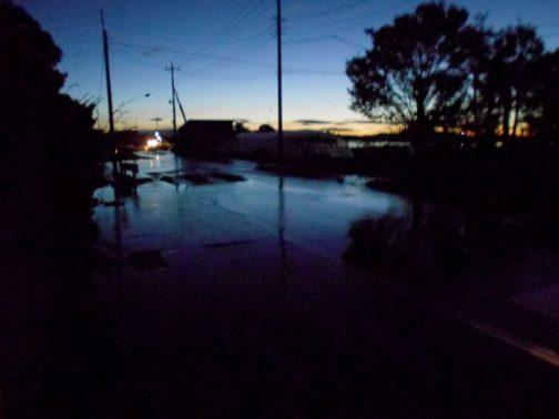招集がかかって家を出たら、もう水が流れ込んでいました。