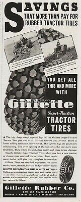 1937年のジレットの広告。ノビーパターンです。ちょっと気持悪いですね。