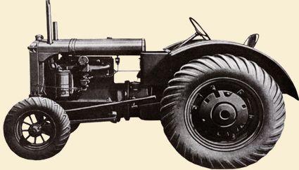 当時のアリスシャルマー・モデルUの広告写真を探してきました。これを見るとタイヤは「あの形」です。 トラクタータイヤは初めから「あの形」だったんです!