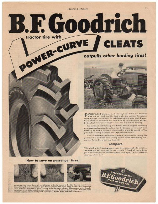 いつの広告かわかりませんが、こんなパターンも見つけました。パワーカーブだそうです。このように一目でメーカーがわかった時代っておもしろいですね。
