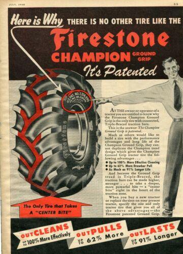 同じくファイアストンの広告。このグラウンドグリップタイヤという名前もそうですが、このパターンそのものが商標のように働いていたのでしょう。