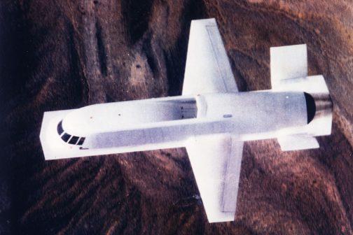 ノースロップグラマンのWEBページに写真がありました。こちらのほうがよりXB-1に似ています。