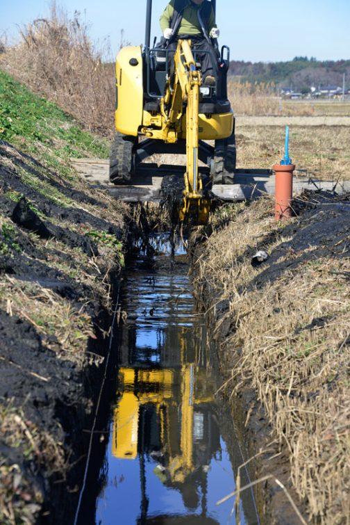 同じ場所です。上記の理由で堆積した泥が多い・・・