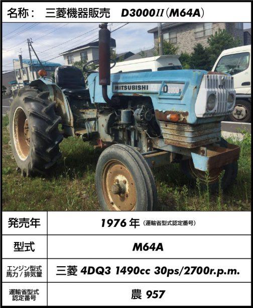 しかし、運輸省型式認定がわかったのは収穫です。前の型のD3000と別の番号を振られているのですね。