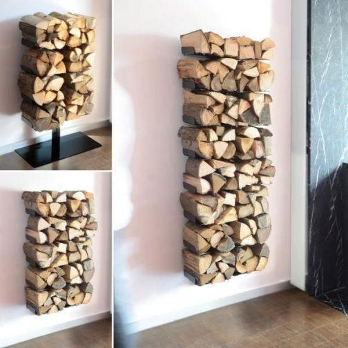 ネットで写真を探してきました。白い壁に綺麗に並んだ薪。素敵ですねーーー。
